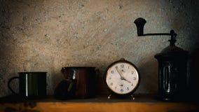 Reloj de alarma viejo Fotografía de archivo libre de regalías