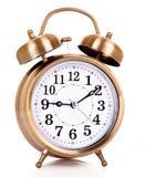Reloj de alarma viejo Foto de archivo libre de regalías