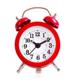 Reloj de alarma viejo aislado Fotografía de archivo