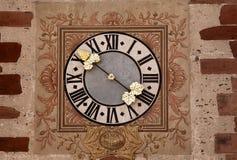 Reloj de Alsacia de Hunawihr Foto de archivo