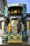 Reloj de Anker en Hoher Markt Imagenes de archivo