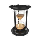 Reloj de arena aislado en el fondo blanco, representación 3D Foto de archivo libre de regalías