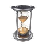 Reloj de arena aislado en el fondo blanco, representación 3D Fotos de archivo libres de regalías