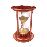 Reloj de arena aislado en el fondo blanco, representación 3D Imágenes de archivo libres de regalías