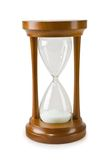 Reloj de arena aislado en un backgrond blanco fotografía de archivo libre de regalías