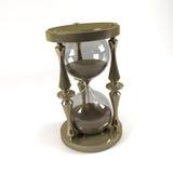 Reloj de arena aislado sobre un fondo blanco Imagen de archivo libre de regalías