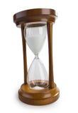 Reloj de arena clásico aislado en blanco imagenes de archivo