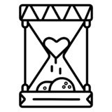 Reloj de arena con el corazón humano libre illustration