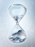 Reloj de arena con el primer del agua del goteo libre illustration