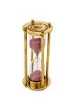 Reloj de arena de cobre Imagen de archivo libre de regalías