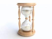 reloj de arena de madera 3D Foto de archivo libre de regalías