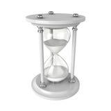 Reloj de arena en el fondo blanco, representación 3D Foto de archivo libre de regalías