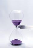 Reloj de arena - tiempo de la matanza Fotografía de archivo libre de regalías
