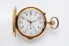 Reloj de bolsillo antiguo del oro Imagen de archivo