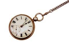 Reloj de bolsillo antiguo en encadenamiento Fotos de archivo