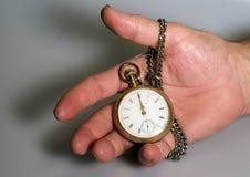 Reloj de bolsillo antiguo viejo Fotos de archivo