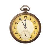 Reloj de bolsillo antiguo viejo aislado en el backgro blanco fotos de archivo libres de regalías