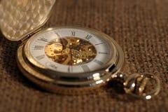 Reloj de bolsillo de la antigüedad Foto de archivo
