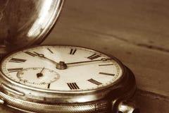 Reloj de bolsillo de la vendimia Fotografía de archivo