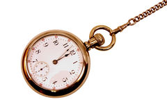 Reloj de bolsillo de la vendimia en encadenamiento Fotos de archivo libres de regalías