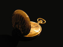 Reloj de bolsillo de oro Fotografía de archivo libre de regalías