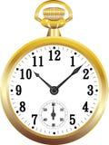 Reloj de bolsillo de oro Imagenes de archivo