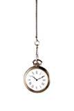 Reloj de bolsillo de plata Fotografía de archivo