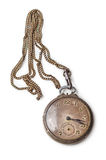 Reloj de bolsillo de plata viejo Foto de archivo libre de regalías