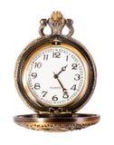 Reloj de bolsillo del cobre del oro del vintage Fotos de archivo libres de regalías