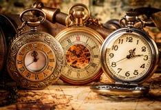 Reloj de bolsillo del vintage Imagenes de archivo