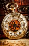 Reloj de bolsillo del vintage Fotos de archivo
