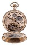Reloj de bolsillo del vintage con la tapa posterior abierta Imagen de archivo libre de regalías