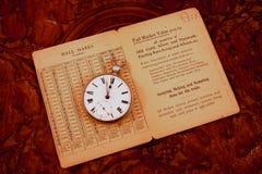 Reloj de bolsillo en el vector Fotografía de archivo libre de regalías