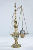 Reloj de bolsillo en escala del peso Imagen de archivo