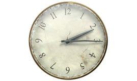 Reloj de bolsillo llevado antiguo imagen de archivo libre de regalías