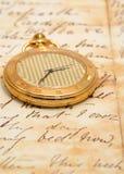 Reloj de bolsillo muy viejo Fotos de archivo libres de regalías