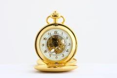 Reloj de bolsillo plateado oro Foto de archivo libre de regalías