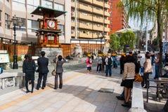 Reloj de Botchan Karakuri en Matsuyama, Japón Imagen de archivo libre de regalías