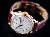 Reloj de Chronographe de la vendimia Foto de archivo libre de regalías