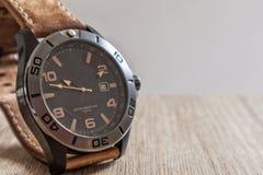 Reloj de cuero Imagen de archivo libre de regalías