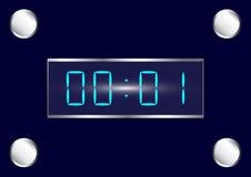 Reloj de Digitaces azul Foto de archivo