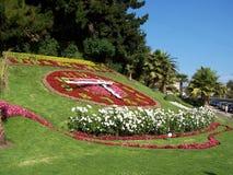 Reloj de flores Foto de archivo libre de regalías