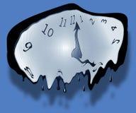 Reloj de fusión Foto de archivo libre de regalías