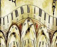 Reloj de Grunge fotografía de archivo libre de regalías