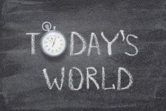 Reloj de hoy del mundo fotos de archivo libres de regalías