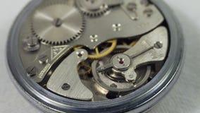 Reloj de la antigüedad del vintage del mecanismo Imágenes de archivo libres de regalías