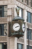 Reloj de la calle de Chicago Imagen de archivo libre de regalías