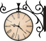 Reloj de la calle del vintage. EPS10 Imagen de archivo libre de regalías