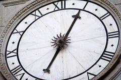 Reloj de la catedral fotografía de archivo libre de regalías