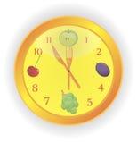 Reloj de la cocina Imagenes de archivo